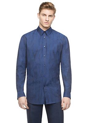 Versace Men Men Abstract Dotted Silk Shirt