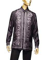 Versace Men Men Silk Barocco Men's Shirt