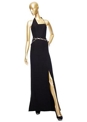 Versace Bayan Siyah Abiye Elbise