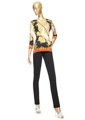 "Versace Women Wrap-style ""Edera Barocco"" Top"