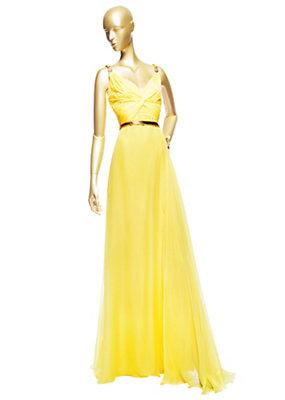Versace Kadın İpek Memphis Uzun Elbise