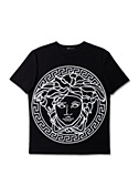 Versace Men Men Black & White Medusa T-Shirt Men
