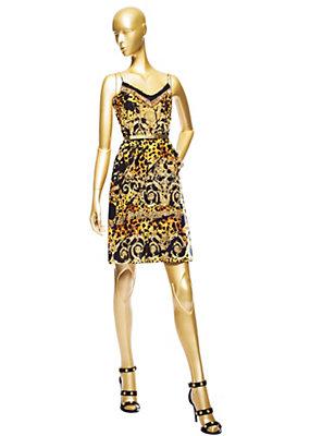 Versace Kadınlar Barocco Pop Splash ipek elbise