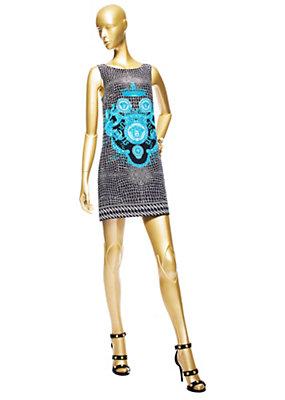 Versace Kadınlar Vintage Timsah Kısa Elbise