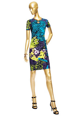 Versace Kadınlar Wild Patch Jersey Mini Elbise