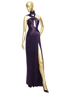 Versace Kadınlar Uzun dökümlü boyundan bağlı bluz Elbise