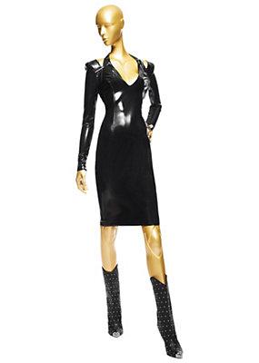 Versace Bayan Uzun Kollu Vinil Elbise