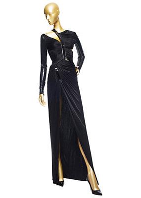 Versace Kadınlar Draped Vinil Bandaj Elbise