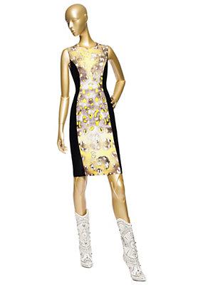 Versace Kadın Leopar Baskılı Tüp Elbise