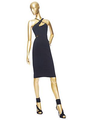 Versace Kadınlar boyundan bağlı Kesme Kokteyl Elbise