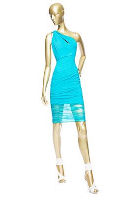 Versace Kadınlar Asimetrik Yaka Tül Elbise