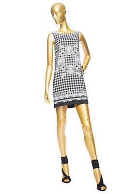 Versace Kadın Barok Vichy 'Baskı Shift Elbise