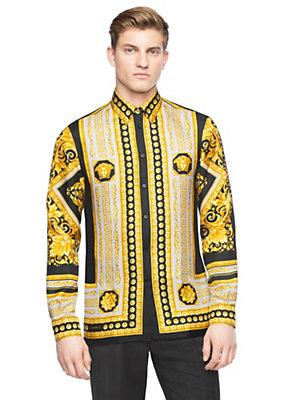 Versace Iconic Print Silk Shirt