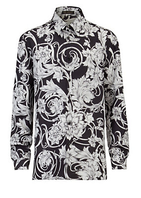 Versace Men Men Barocco Acquerello print shirt