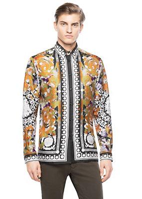 Versace Silk Floral Barocco Shirt