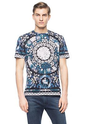 Versace Men WaterBarocco Print Cotton T-shirt