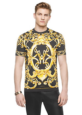 Versace Men Heritage Barocco cotton t-shirt
