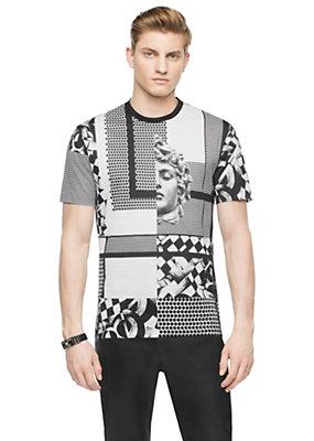 Versace Men Men Mixed Medusa Print T-Shirt