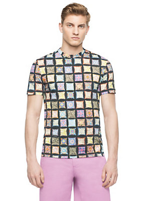 Versace Men Cushion Print Cotton-Jersey T-Shirt