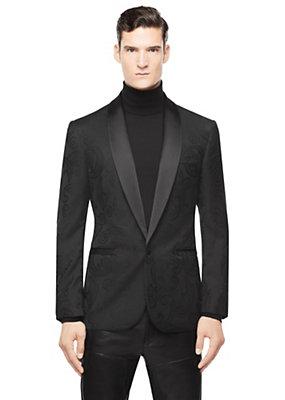 Versace Men Men Barocco Print Tonal Blazer