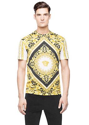 Versace Men Men Iconic Barocco Printed T-Shirt