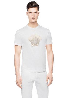 Versace Men Men Classic Studded Medusa T-Shirt