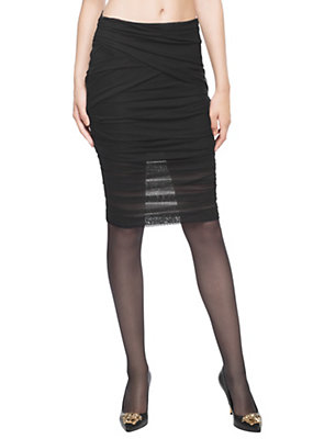 Versace Women Pleated Tulle Stretch Sheer Skirt