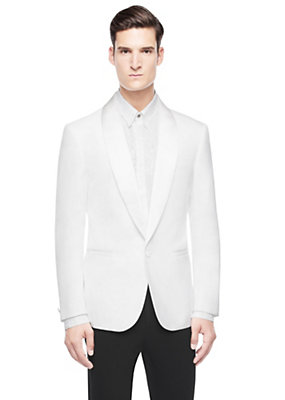 Versace Men Men Silk-Blended Blazer