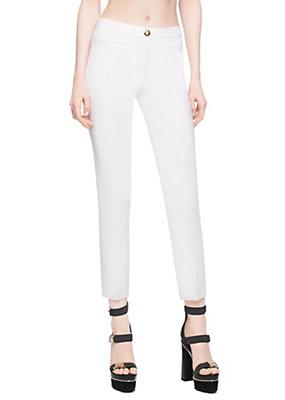 Versace Women Cropped Silk Trousers