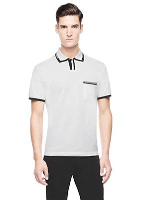 Versace Men Men Greca Detail Polo Shirt