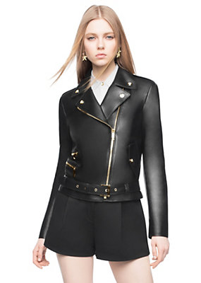 Versace Women Leather biker jacket