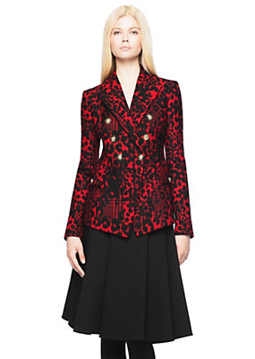 Versace Women Double-breasted wool jacket