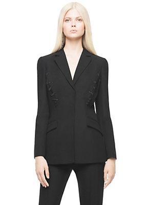 Versace Women Swarovski embroidered Silk jacket