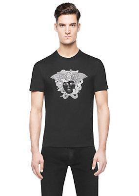 Versace Men Men Embellished Medusa T-Shirt