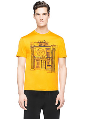 Versace Men Embroidered cotton T-shirt