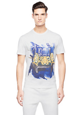 Versace Men Abstract baroque printed T-shirt