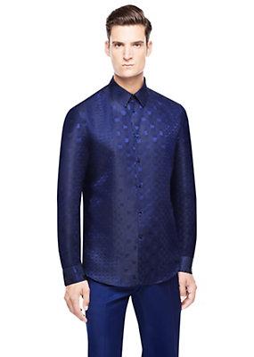 Versace Men Men Abstract Prince of Wales Shirt