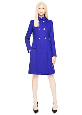 Versace Women Military wool coat