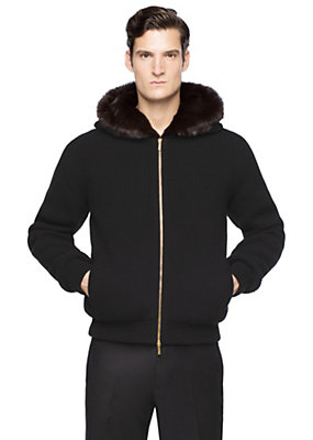 Versace Men Men Knitted hooded jacket