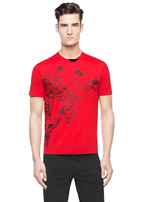 Versace Men 3D Medusa print cotton T-shirt