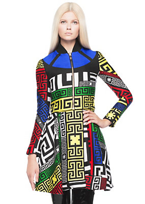 Versace Women #GREEK Puzzle print cropped jacket