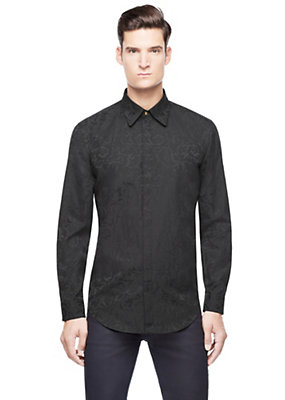 Versace Men Men Tailored Barocco Button-Up