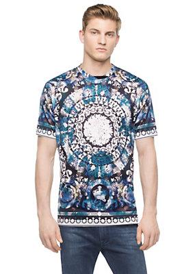 Versace Men Men Floral Barocco Dyed Shirt