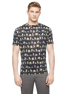 Versace Men Multi-Color Chair Print T-Shirt