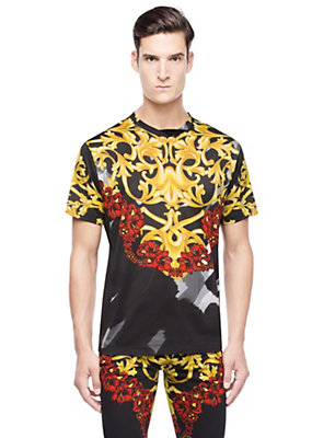 Versace Men Barocco cotton t-shirt