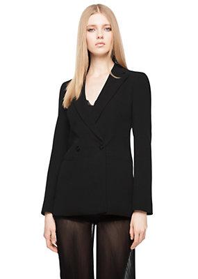 Versace Women Double-breasted silk long blazer