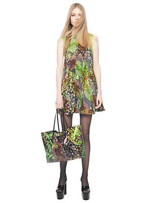 Versace Women Cady Plissé Flower Patch Dress