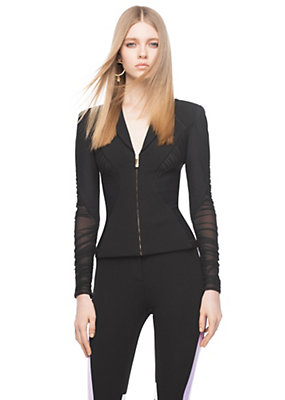 Versace Women Stretch Jersey fitted jacket