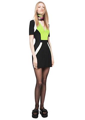 Versace Women Jersey Tri-Colour Plissé Dress