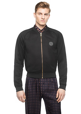 Versace Men Men Medusa Slash Silk Jacket